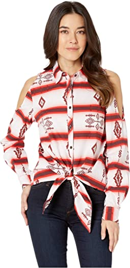Long Sleeve Striped Button Down B4B9123