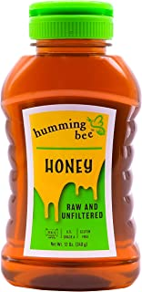 12 oz Humming Bee Pure SLOW, Raw, and Unfiltered Honey - US Grade A, Gluten Free, and Kosher - Silky Smooth Yucatán Amber ...