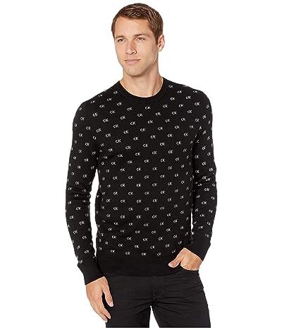 Calvin Klein CK Logo Pattern Jacquard (Black) Men