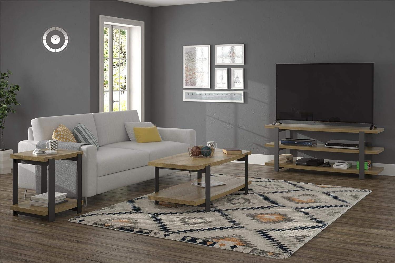 Golden Oak Ameriwood Home Castling End Table