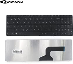 SUNMALL Keyboard Replacement Without Frame Compatible with Asus n53 k54l x55 x55u x55a x54c x54h x55vd x55c r500 f55 f75 Series Laptop Black US Layout(6 Months Warranty)