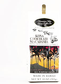 Hawaiian Isles Chocolate Macadamia Kona Coffee 10 oz Each (1 Item Per Order, not per case)