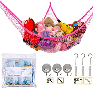 "Jumbo Toy Hammock Stuffed Animals and Toy Storage Hammock Net KoHuiJoo 70"" Wall Sling Corner Extra Large Kids Children Mes..."
