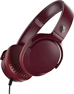 Skullcandy S5PXY-M685 Riff On-Ear Headphones with Microphone - Moab Red/Black (Pack of 1)