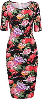 Women's Classic Sweetheart Short Sleeve Slim Fit Sexy Party Midi Dress