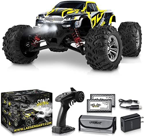 high quality 1:16 Scale Large RC outlet online sale Cars 40+ kmh Speed - Boys Remote Control Car 4x4 Off Road Monster Truck Electric - new arrival Hobby Grade Waterproof Toys Trucks for Kids and Adults - 2 Batteries + Connector for 40+ Min Play outlet sale
