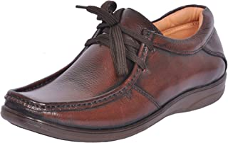 Zoom Office Shoes for Men Genuine Leather Dress Formal Shoes Online D-2570-Brown-7