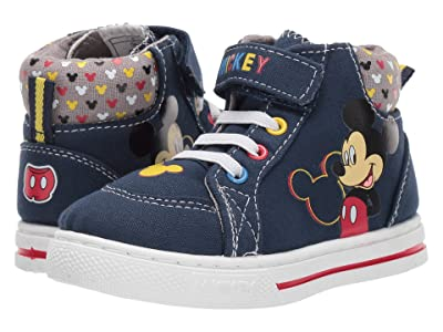 Josmo Kids Mickey High Top Sneaker (Toddler/Little Kid) (Navy) Boys Shoes