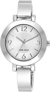 Nine West reloj de pulsera con esfera de rayos solares para mujer