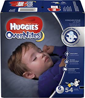 HUGGIES OverNites nappies, Size 6, 54 ct., Overnight nappies (Packaging May Vary)