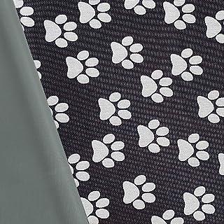 NOVELY Oxford 600D Polyester Stoff Outdoor wasserdicht Meterware Segeltuch PVC D12 Pfoten Tatzen Hund
