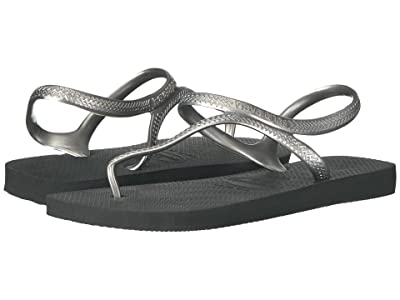 Havaianas Flash Urban Flip Flops (Black/Silver) Women