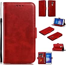 Snow Color Leather Wallet Case for Huawei Honor 6X GR5 2017 Mate9 Lite with Stand Feature Shockproof Flip Card Holder Case Cover for Huawei Honor 6X – COYKB010326 Red Estimated Price : £ 7,11