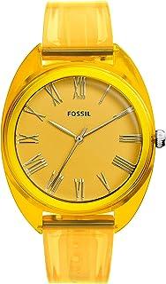 فوسيل ساعة للنساء بمينا لون اصفر - ES4860