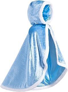 FUNNA Fur Princess Capes for Girls Dress Up Cloak Halloween Costume
