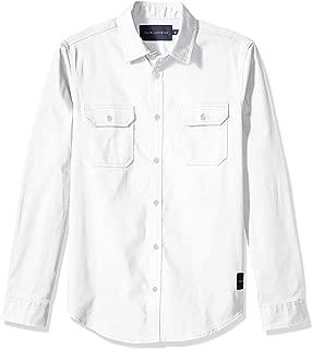 Calvin Klein Men's Long Sleeve Denim Button Down Shirt