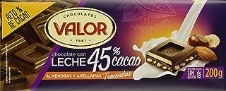 Valor, Chocolate con Leche 45% cacao con almendras y avellanas 200gr - 17 de