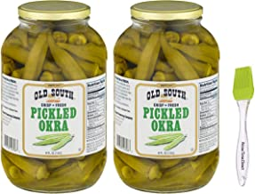 product image for Old South Pickled Okra 64 Oz (2 Pack) Bundled with PrimeTime Direct Silicone Basting Brush in a PTD Sealed Box