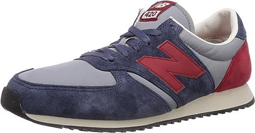 New Balance - 420, Sneakers, unisex, Blu (Blue / Red), 42 : Amazon ...