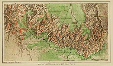 Antiguos Maps Grand Canyon in 1926 National Park Map Print - Measures 14