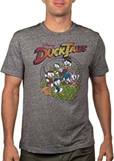 تي شيرت للبالغين مطبوع عليه Scrooge McDuck Huey، Dewey، Louie Burnout من Disney