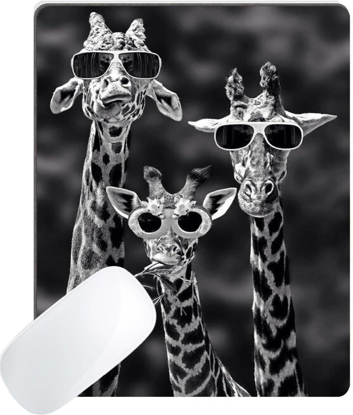 Wknoon Gaming 4 years warranty Mouse Pad Custom Sunglasses Funny Giraffe Wearing Max 67% OFF