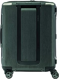 Samsonite 92053 EVOA Hard Side Spinner Suitcase, Brushed Black, 55 Centimeters