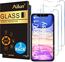 Ailun Glass Screen Protector for iPhone 11/iPhone XR 6.1 Inch 3 Pack Tempered Glass..
