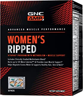 GNC AMP Women's Ripped Vitapak Program with Metabolism + Muscle Support