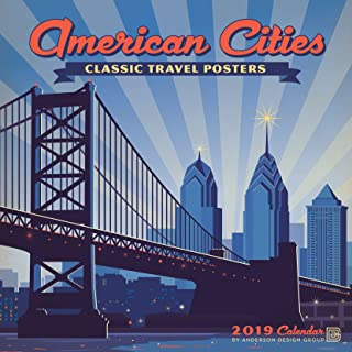 American Cities Classic Posters 2019 Wall Calendar