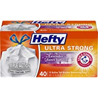40-Count Hefty Ultra Strong Tall Kitchen Trash Bags 13 Gallon
