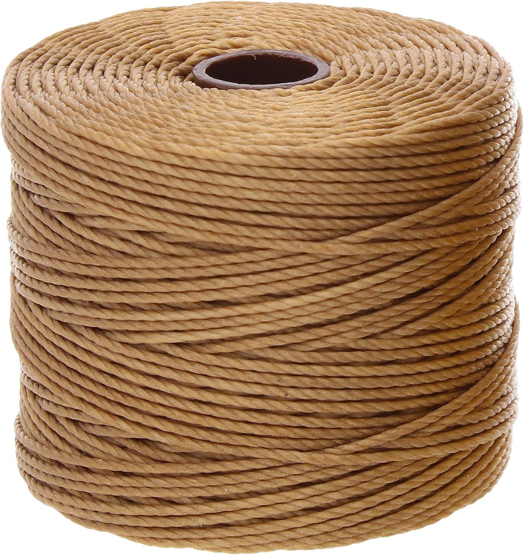 1 Spool Macrame Crochet S-Lon Tex 210 Nylon bead Cord Kumihimo Vanilla Stringing 77 Yards