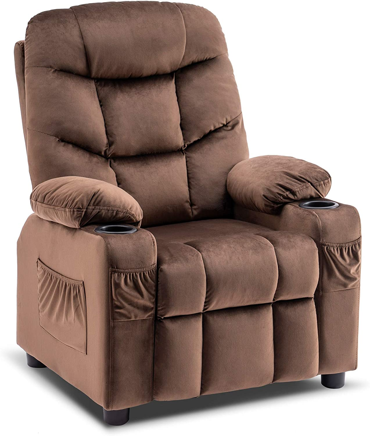 Mcombo Big Kids Recliner Chair with for Cup Gir All items free shipping Boys and Holders Max 56% OFF