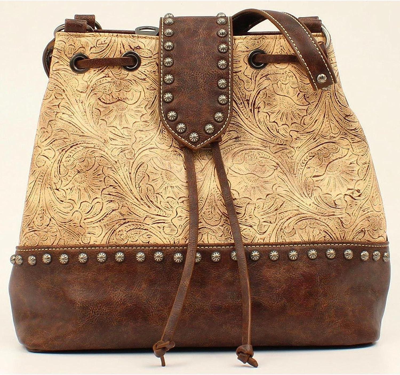 Blazin Roxx Western Handbag Women Lydia Bucket Faux Taupe N7510841