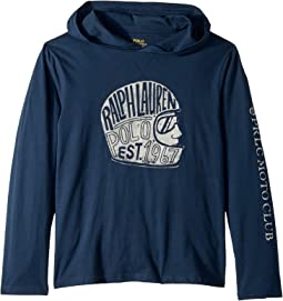 Cotton Hooded Graphic T-Shirt (Big Kids)