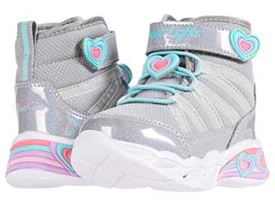 SKECHERS KIDS Sweetheart Lights Cutie Boots 302661N (Toddler) (Gray/Aqua) Girls Shoes
