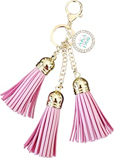 Alpha Kappa Alpha Sorority AKA Leather Tassel Keychain Paraphernalia Gift