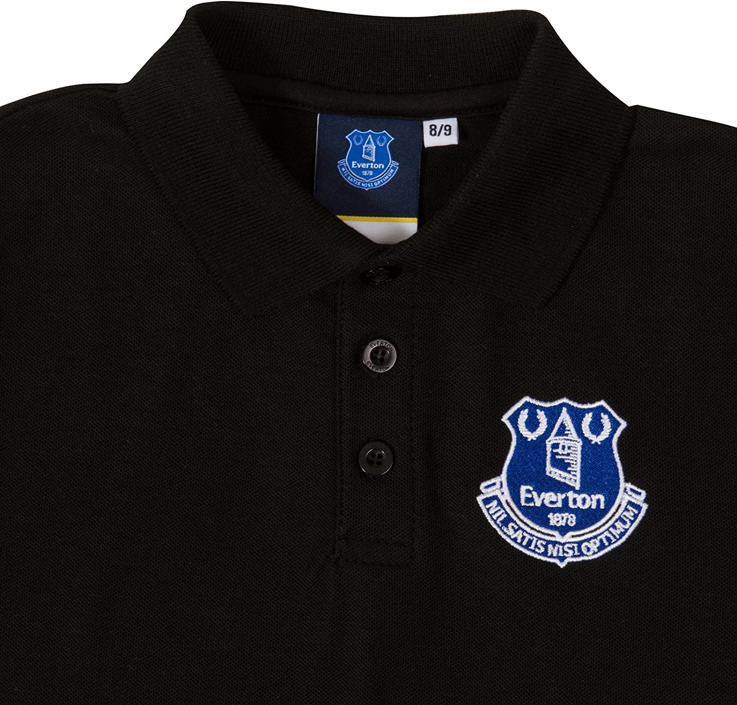 Everton Core Basic Tipped Collar T Shirt Tee Top Grey Football Junior Boys