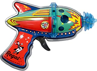 Tin Atomic Space Blaster with Revving Gears and Cosmic Light Up Effect