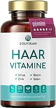 SOLVISAN HAAR VITAMINE hochdosiert mit Biotin, Zink, Selen und Hirse - 120 Haarkapseln