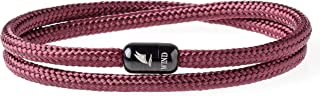 Durable Rope Cord Cuff Bracelet with Magnetic Clasp for Men Women