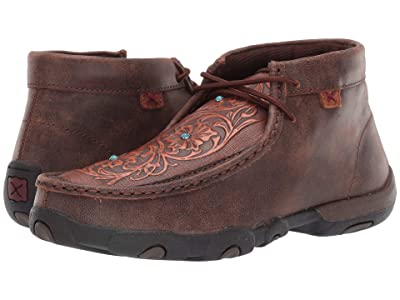 Twisted X WDM0081 (Brown/Tooled Flowers) Women