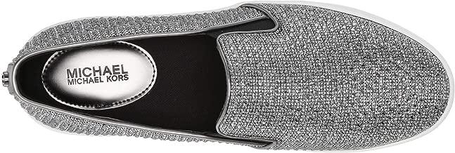 Michael Michael Kors Womens Keaton Low Top Slip On, Black/Silver, Size 8.0
