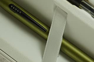 Cross Limited Series Tech 2 Matte Sage green Dual-personality Pen with two replacement stylus Tops and two cross bonus refill in blue and black colors