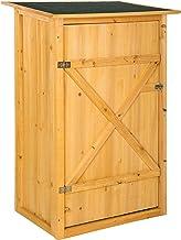 TecTake 402200 - Armoire de Jardin avec Toit Plat, 75 x 56 x 118 cm, Bois de Pin imprégné