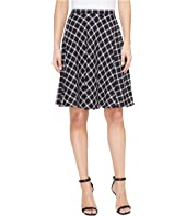 Tahari by ASL - Plaid A-Line Skirt
