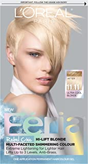 L'OrÃal Paris Feria Multi-Faceted Shimmering Permanent Hair Color, 11.11 Icy Blonde (Ultra Cool Blonde), Pack of 1 kit Hair Dye
