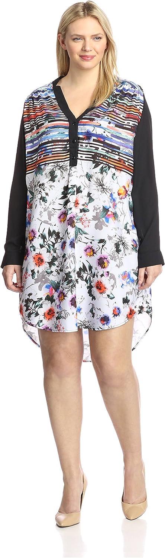 YASB Plus Women's Printed Shirt Dress