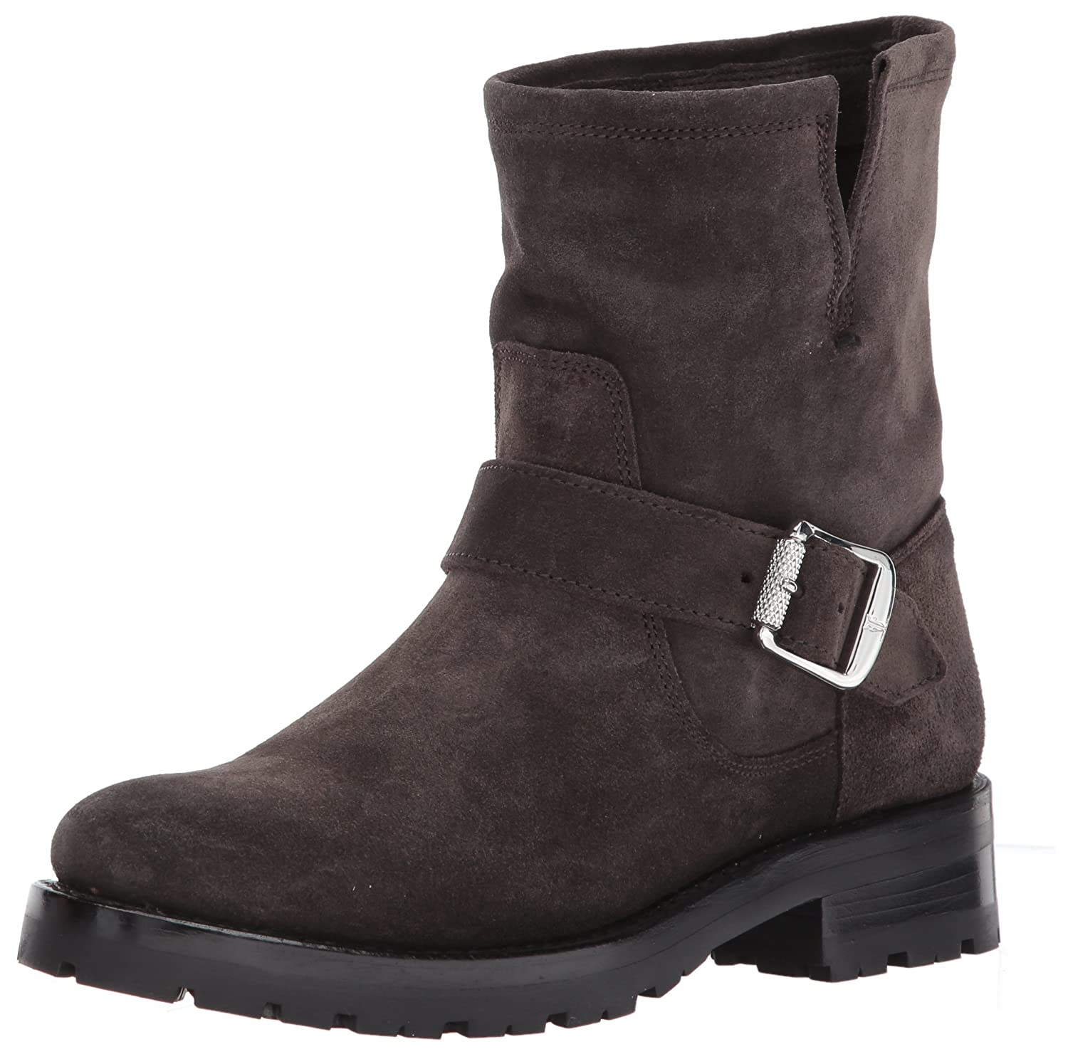 [FRYE] Womens Natalie Short Lug Engineer Suede Closed Toe Ankle Fashion Boots [並行輸入品]