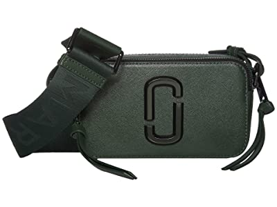 Marc Jacobs The Snapshot Monochrome Crossbody (Olive) Handbags